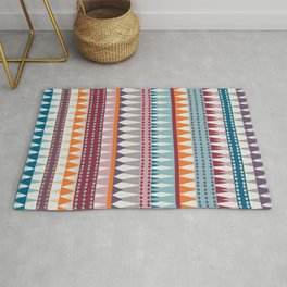 Geometrical Art, Colorful Stripes, Boho Wall Art Rug