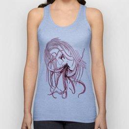 Lady & Octopus Unisex Tank Top