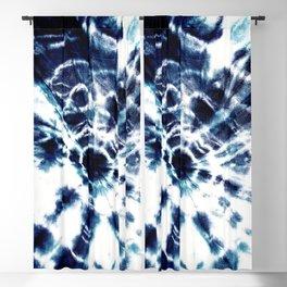 Tie Dye Sunburst Blue Blackout Curtain