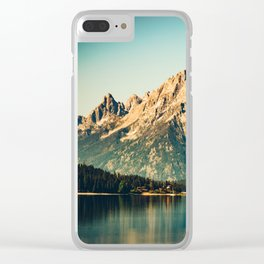Mountain Lake Escape Clear iPhone Case