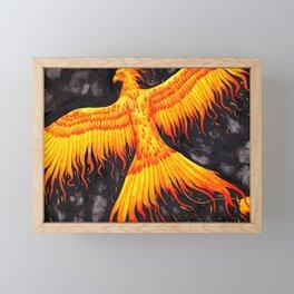 Flaming Phoenix Framed Mini Art Print