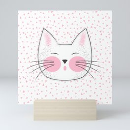 Japanese Kitty Cat Mini Art Print