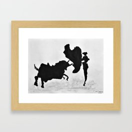 Bulls and bullfighters of Picasso I Framed Art Print