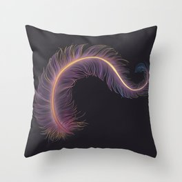 FEATHER OF LIGHTS Throw Pillow