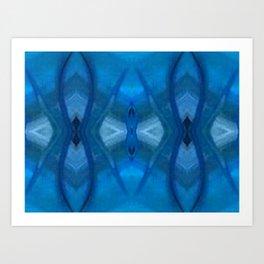 Pattern III Blue Art Print