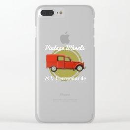 Vintage Wheels: Citroën 2CV Fourgonnette Clear iPhone Case
