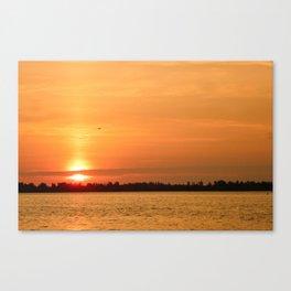 Detroit River Sunrise Canvas Print
