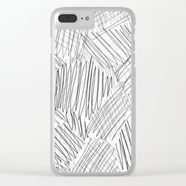 messy Clear iPhone Case