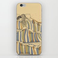 lines iPhone & iPod Skins featuring Ocean of love by Huebucket
