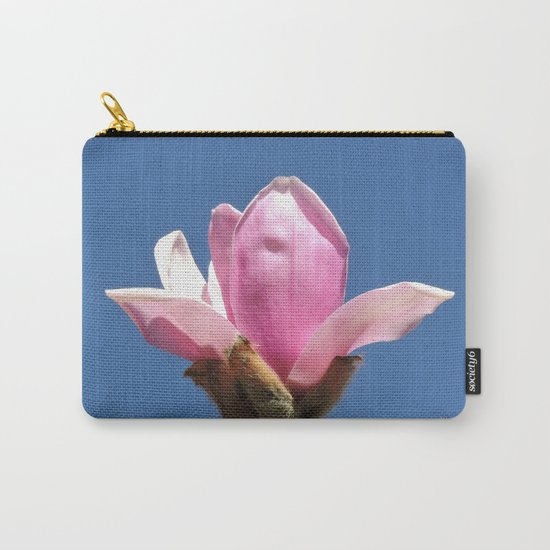 Magnolia Blossom on a Sky Blue Field Carry-All Pouch