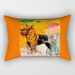 Schnauzer pop art Rectangular Pillow