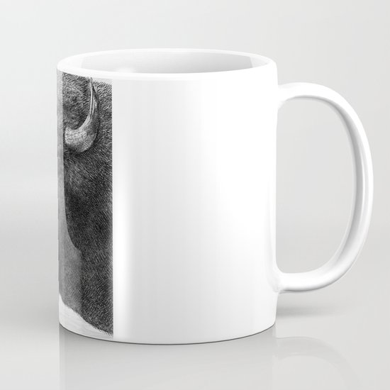 Bison and Butterfly (square format) Mug