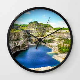 Blue Lagoon. Wall Clock