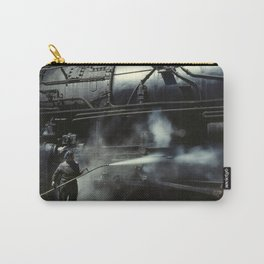 Locomotive Gets A Steam Bath - 1943 Carry-All Pouch