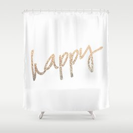 GOLD HAPPY Shower Curtain