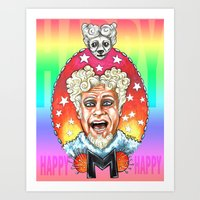 will ferrell Art Prints featuring Mugatu by Megan Mars