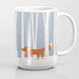 Fox in the Snow Coffee Mug