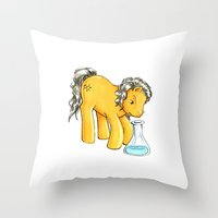 my little pony Throw Pillows featuring My Little Pony: Yusuf by aredblush