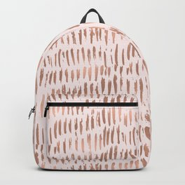 Blush Pink Rose Gold Abstract Backpack
