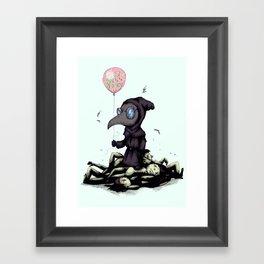 Plague Doctor Failure Framed Art Print
