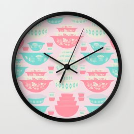 Pink and Turquoise Everything Wall Clock