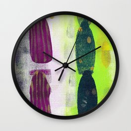 Pathways - Acrylic Painting Wall Clock