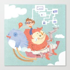 My Monstrous Privacy Canvas Print