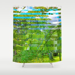 Landscape of My Heart (segment 1) Shower Curtain