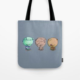 Three Little Monsters Tote Bag