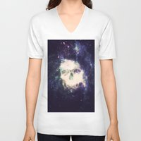 dead space V-neck T-shirts featuring Dead Space by Nicholas Redfunkovich