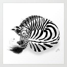 Zebra / Cebra Art Print