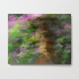 Charcoal Rhododendrons Metal Print