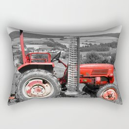 Red old tractor Rectangular Pillow