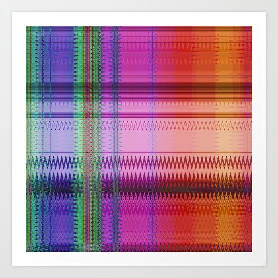Multicolored pattern no.32 Art Print