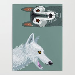 Totem Canadian wolf 1 Poster