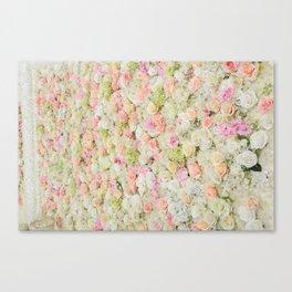 Flower Wall Canvas Print