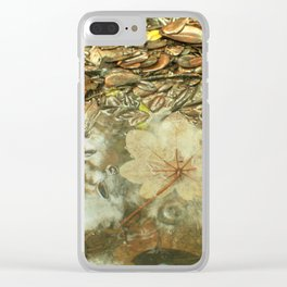 On the Tradewinds trail we find this (white side) Yagrumo tree leaf - El Yunque rain forest Clear iPhone Case
