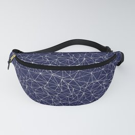 Mosaic Triangles Repeat Seamless Pattern Blue Fanny Pack