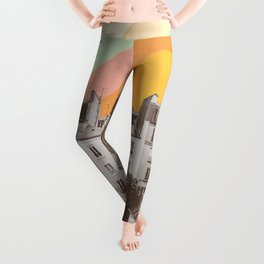 Rainbow Sky Above Paris Leggings