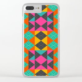 Bright multicolored shapes Clear iPhone Case