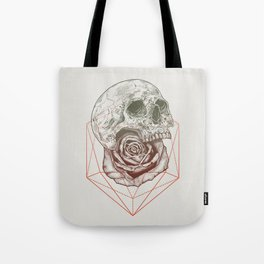 Skull Rose Geo Tote Bag