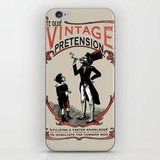 Ye Oldé Vintage Pretension iPhone & iPod Skin