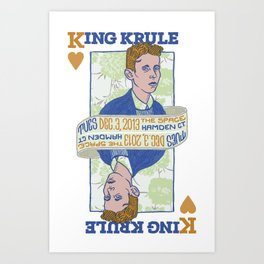 King Krule Art Print