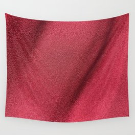 Red Polyester clothing texture. Wall Tapestry