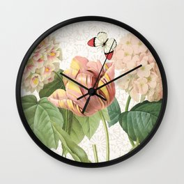 tulips Dalia Wall Clock