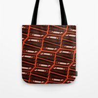 return Tote Bags featuring Return by Gimetzco's Damaged Goods
