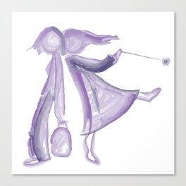 Purple girls Canvas Print
