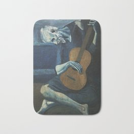 Pablo Picasso - The Old Guitarist Bath Mat