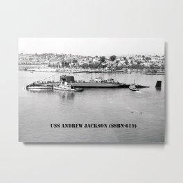 USS ANDREW JACKSON (SSBN-619) Metal Print