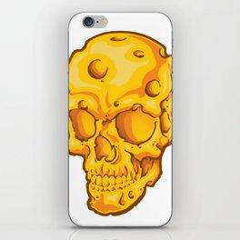 Cheesehead Skull iPhone Skin